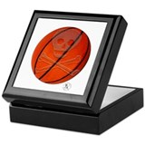Skull & Crossbones Basketball Keepsake Box