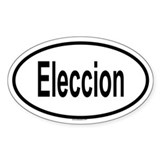 ELECCION Oval Decal