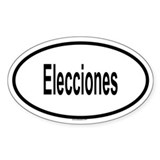 ELECCIONES Oval Decal