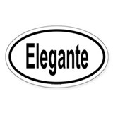 ELEGANTE Oval Decal