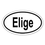 ELIGE Oval Decal