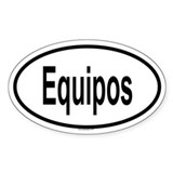 EQUIPOS Oval Decal