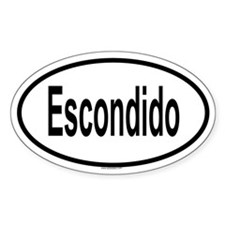 ESCONDIDO Oval Decal