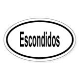 ESCONDIDOS Oval Decal