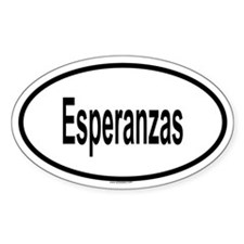 ESPERANZAS Oval Decal