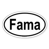 FAMA Oval Decal