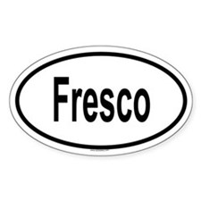 FRESCO Oval Decal