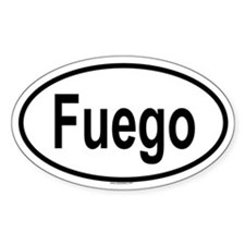 FUEGO Oval Decal