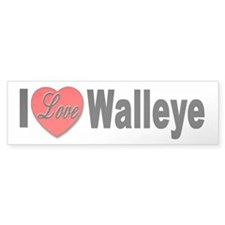 I Love Walleye Bumper Sticker for Walleye Lovers