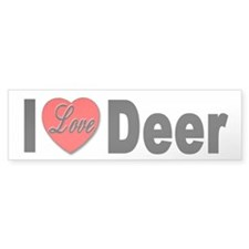 I Love Deer Bumper Sticker for Deer Lovers