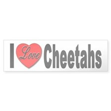 I Love Cheetahs Bumper Bumper Sticker