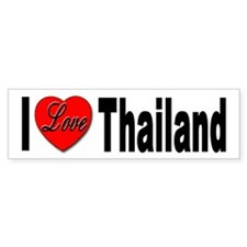 I Love Thailand Bumper Sticker for Thailand Love