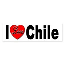 I Love Chile Bumper Sticker for Chile Lovers