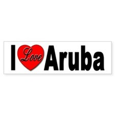 I Love Aruba Bumper Sticker for Aruba Lovers