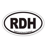 Registered Dental Hygienist RDH Euro Oval Decal