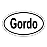 GORDO Oval Decal