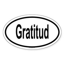 GRATITUD Oval Decal