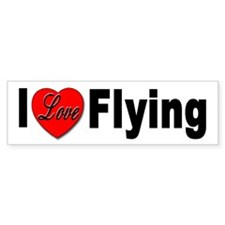 I Love Flying Bumper Bumper Sticker