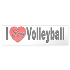 I Love Volleyball Bumper Sticker for Volleyball