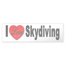 I Love Skydiving Bumper Bumper Sticker