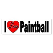 I Love Paintball Bumper Bumper Sticker