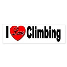 I Love Climbing Bumper Sticker for Climbing love