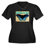 Butterflies Are Magic Women's Plus Size V-Neck Dar