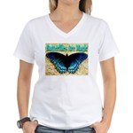 Butterflies Are Magic Women's V-Neck T-Shirt