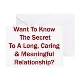 &amp;quot;Secret To A Long Relationship&amp;quot; Greeting