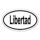 LIBERTAD Oval Decal