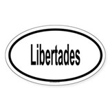 LIBERTADES Oval Decal