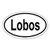 LOBOS Oval Decal