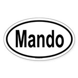 MANDO Oval Decal