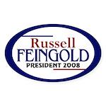 Russell Feingold 2008 (oval bumper sticker)