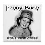 Fanny Bush Cricket Fan Tile Coaster