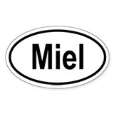 MIEL Oval Decal
