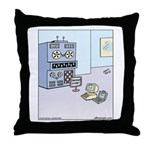 Dinosaur Computer Exhibit Throw Pillow
