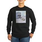 Dinosaur Computer Exhibit Long Sleeve Dark T-Shirt