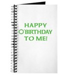 Happy O'Birthday to Me Journal