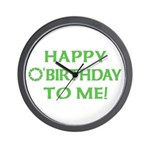 Happy O'Birthday to Me Wall Clock