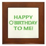 Happy O'Birthday to Me Framed Tile