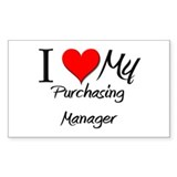 I Heart My Purchasing Manager Sticker (Rectangular