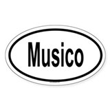 MUSICO Oval Decal