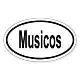 MUSICOS Oval Decal