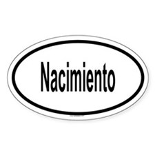 NACIMIENTO Oval Decal