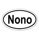 NONO Oval Decal