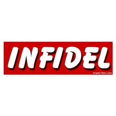 Red Infidel Bumper Sticker
