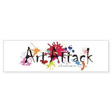 Art Attack Artist Bumper Sticker
