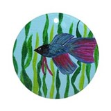 Betta fish Keepsake (Round)