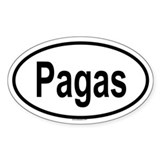PAGAS Oval Decal